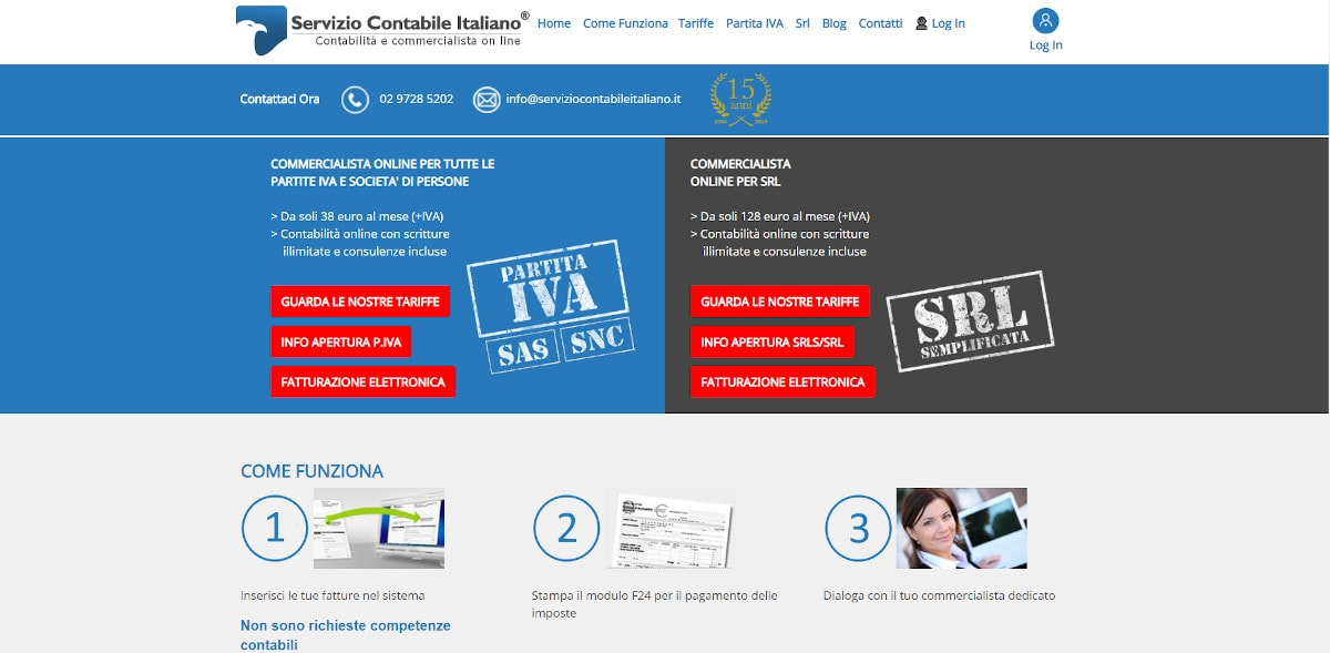 servizio contabile italiano homepage